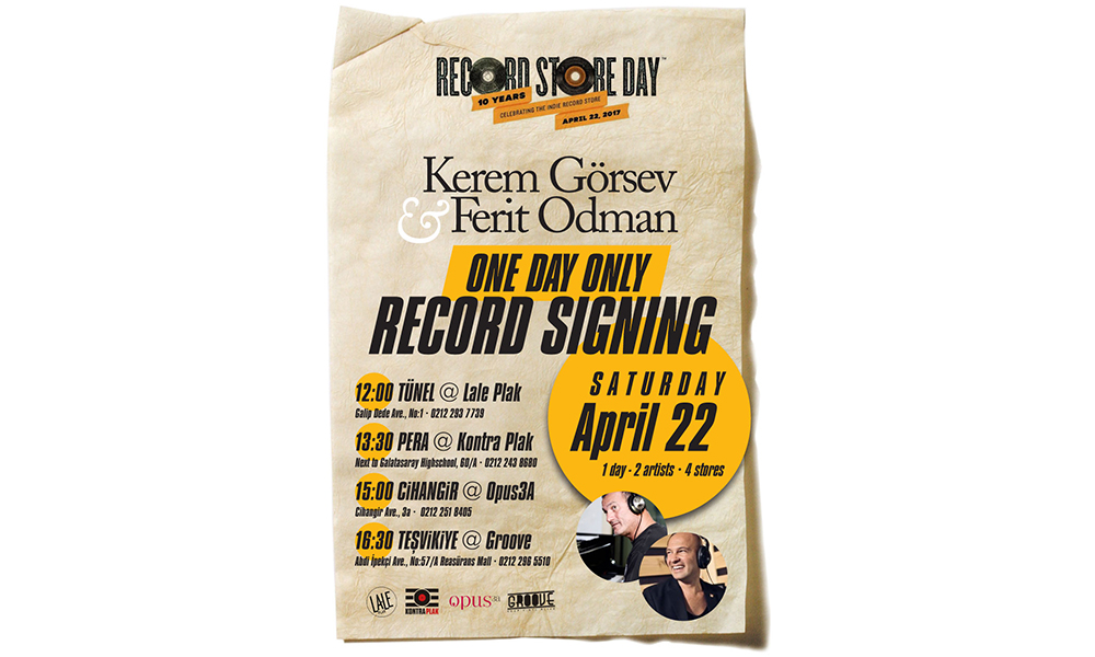 Ferit Odman record signing on Record Store Day