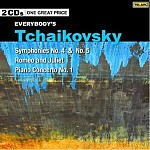 EVERYBODY'S TCHAIKOVSKY: SYMPHONIES 4 AND 5, PIANO CONCERTO NO.1, ROMEO AND JULIET